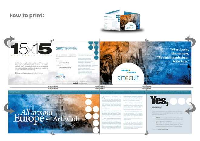 ArtECult brochure design