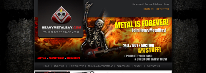 HeavyMetalBay.com website layout