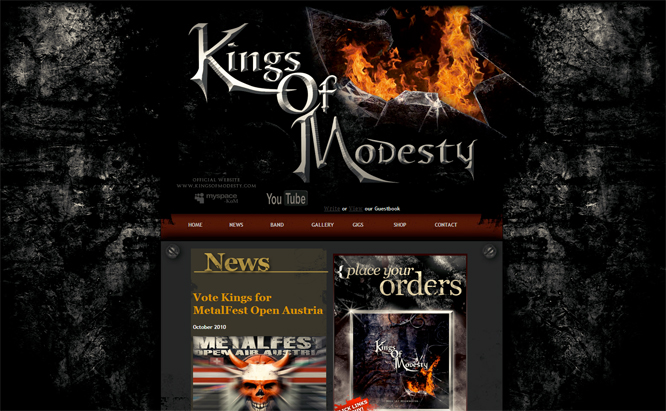 Kings of Modesty website