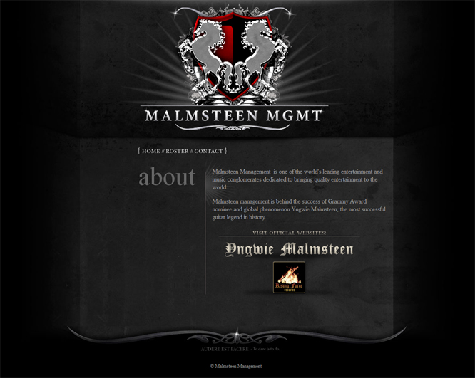Malmsteen MGMT webdesign