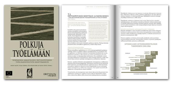 Polkuja työelämään -book design
