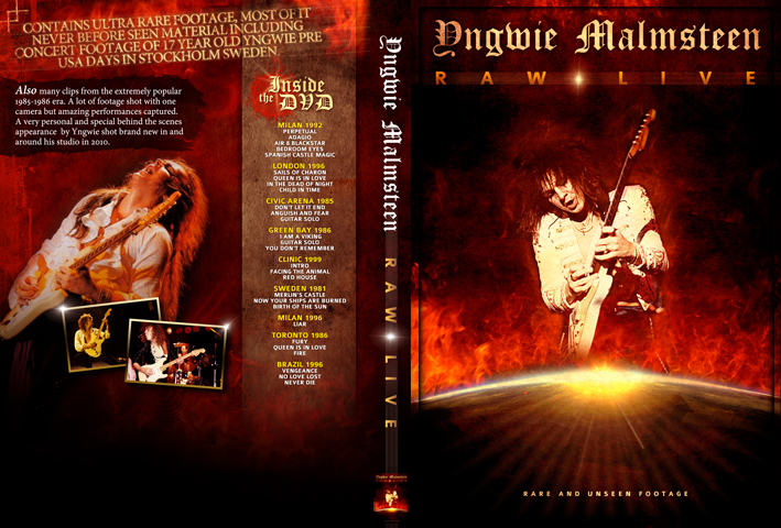 Yngwie Malmsteen - Raw Live! DVD artwork