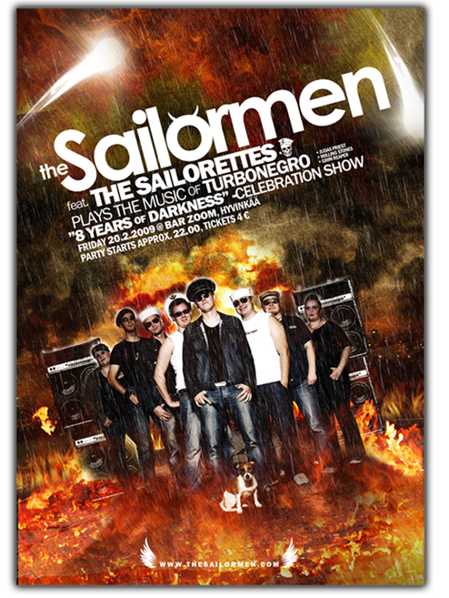 The Sailormen gig poster
