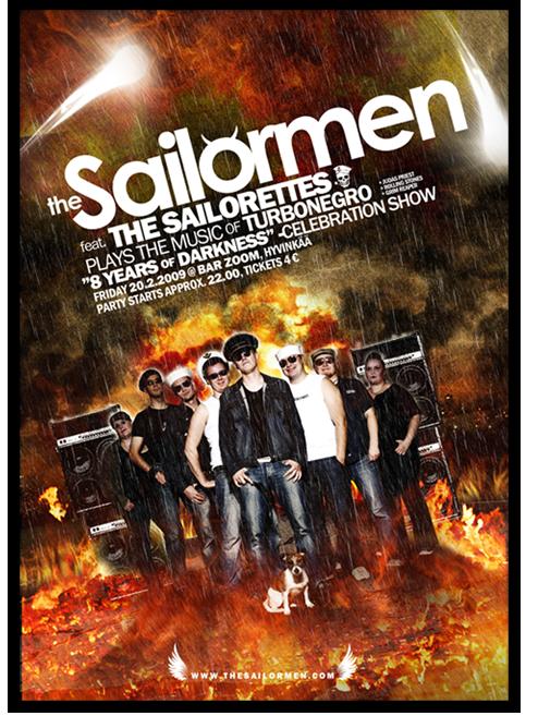 The Sailormen gig poster