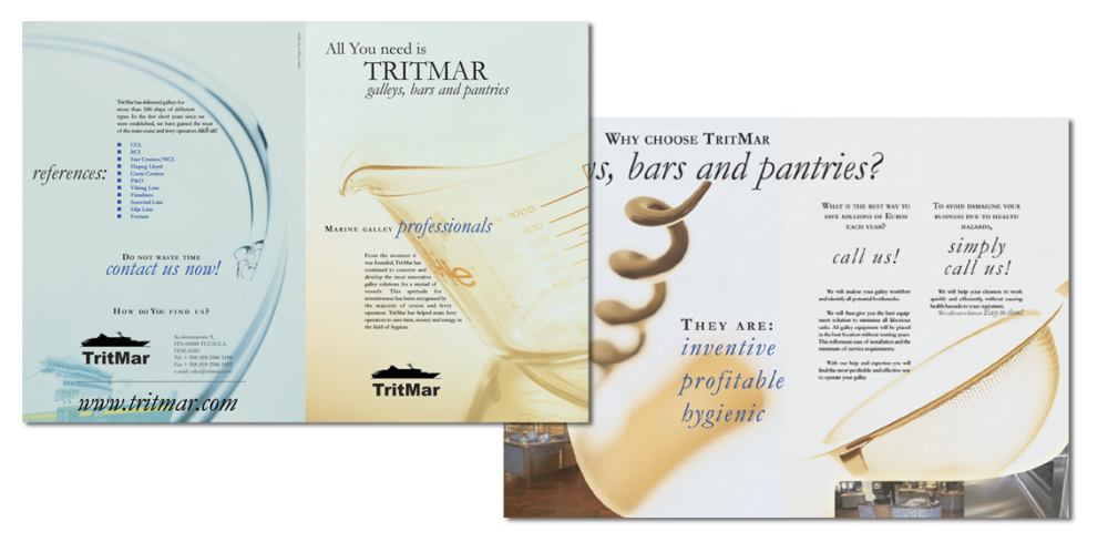 Tritmar brochure design