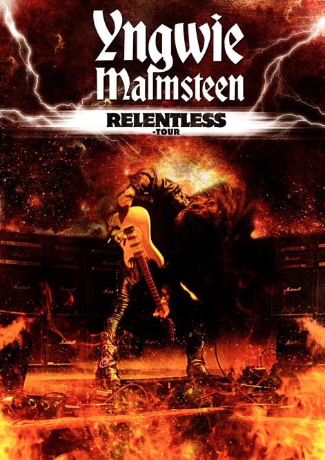 Tour poster for Yngwie Malmsteen