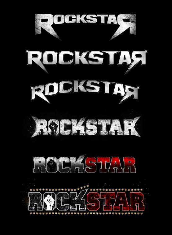 Rockstar logo evolution by Pete Alander/Bandmill