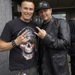 "Pete Alander with Tim ""Ripper"" Owens"