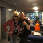 Pete Alander with Michael Monroe