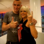 Pete Alander with Samantha Fox