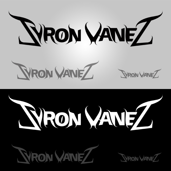 Logos placed in black and white background