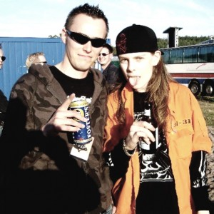 Pete Alander from Bandmill With Ari Koivunen from Amoral and Finnish Idols