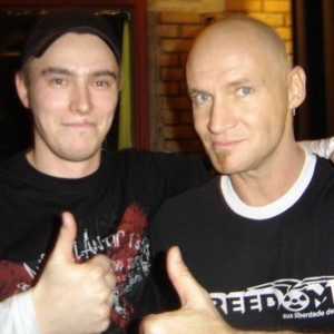 Pete Alander from Bandmill With Ralf Scheepers from Primal Fear
