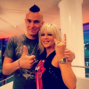 Pete Alander from Bandmill With Samantha Fox
