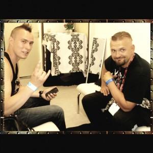 Pete Alander from Bandmill With Vesku Jokinen from Klamydia