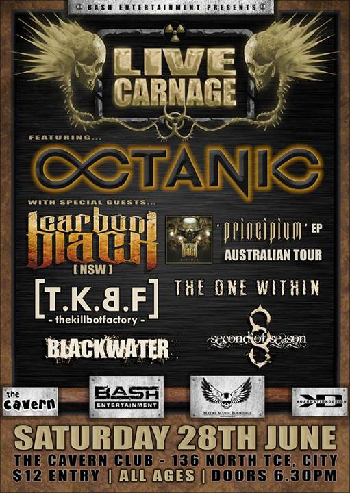 Octanic logo in a poster