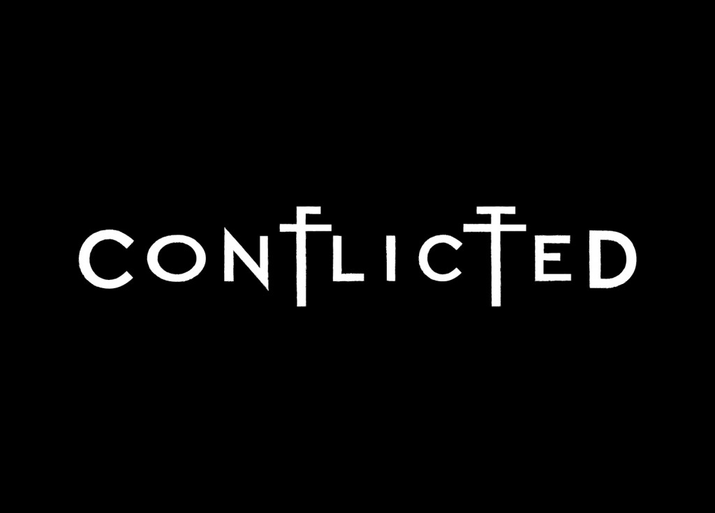 Conflicted logo design by Pete Alander