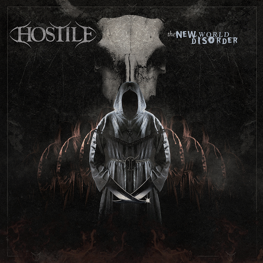 Hostile album artwork design for Hostile by Pete Alander from Bandmill