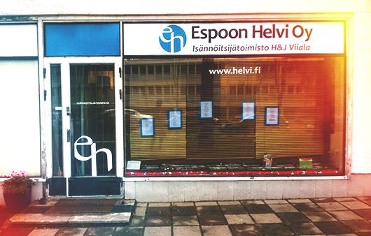 Espoon Helvi oy ikkunateippausten suunnittelu Pete Alander Bandmill