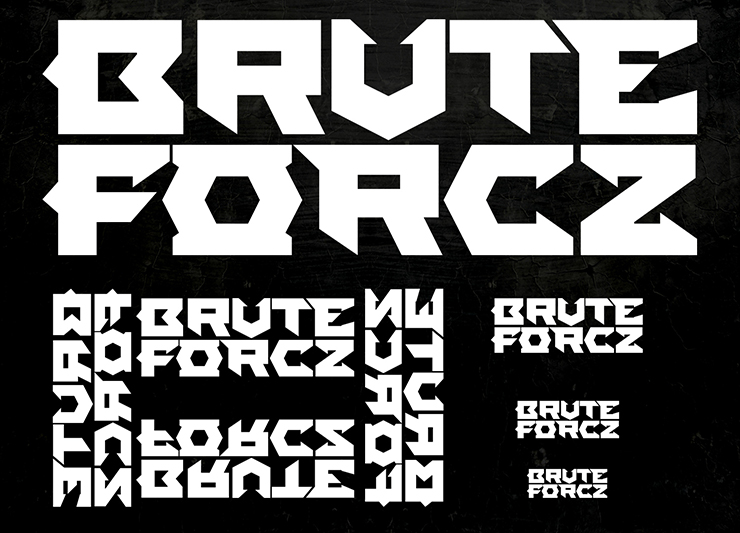 Brute Forcz logo design by Pete Alander/Bandmill