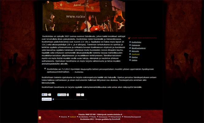 Rocktehdas website