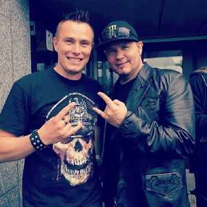 Pete Alander With Tim Ripper Owens