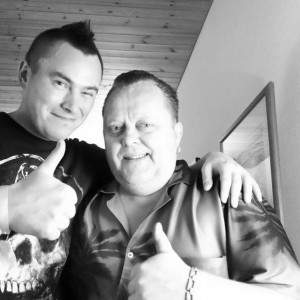 Pete Alander from Bandmill With Hannu Kiviaho from Fatboy
