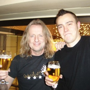 Pete Alander from Bandmill With KK Downing Judas Priest