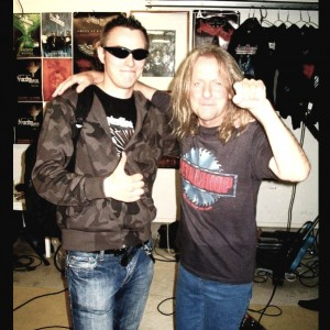 Pete Alander from Bandmill With KK Downing from Judas Priest