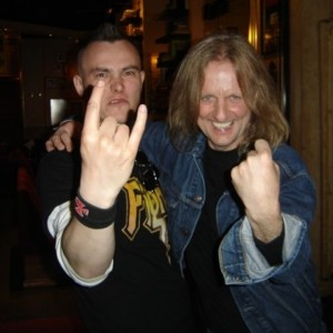 Pete Alander from Bandmill With KK Downing of Judas Priest
