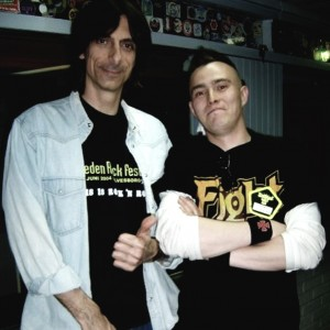 Pete Alander from Bandmill With Scott Travis from Judas Priest