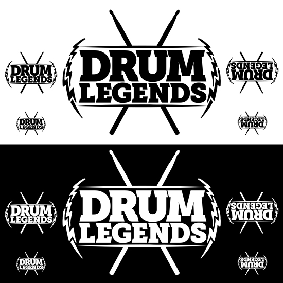 Drum Legends logo by Pete Alander / Bandmill